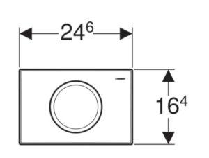 Betätigungsplatte Geberit Delta Serviceöffnung 22 x 14 cm